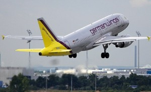 Airplane of Germanwings takes off in Germany