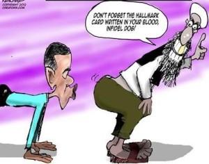 kissing Islams butt
