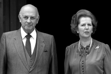 Political Personalities, pic: 6th February 1984, British Prime Minister Margaret Thatcher pictured with the South African Premier P,W,Botha at Chequers  (Photo by Popperfoto/Getty Images)