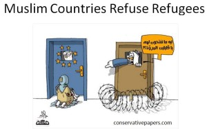 Muslim countries refuse refugees