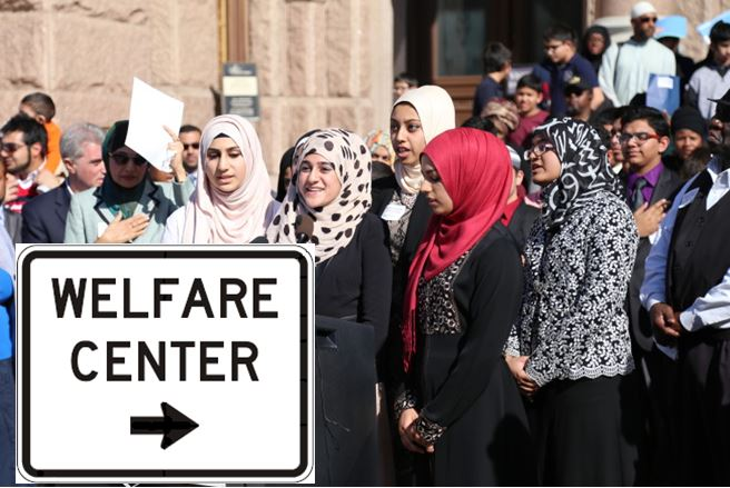 Image result for muslims in welfare line