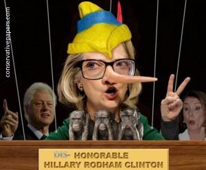 lying hillary clinton