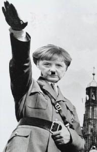 hilter merkel nazi