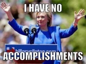 Hillary No Accomplishments