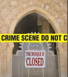 closed mosque crime scene