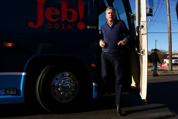 Jeb Bush in Leesville, S.C., last month.Credit Travis Dove for The New York Times
