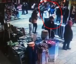 man throws child to ground in Turkey