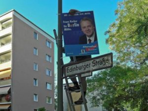 Franz Kerker leading his district for the AfD party