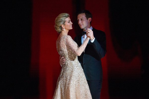 Ivanka Trump and Jared Kushner at the Liberty Ball on Inauguration Day. They travel in liberal social circles and have long supported L.G.B.T. rights. RUTH FREMSON / THE NEW YORK TIMES