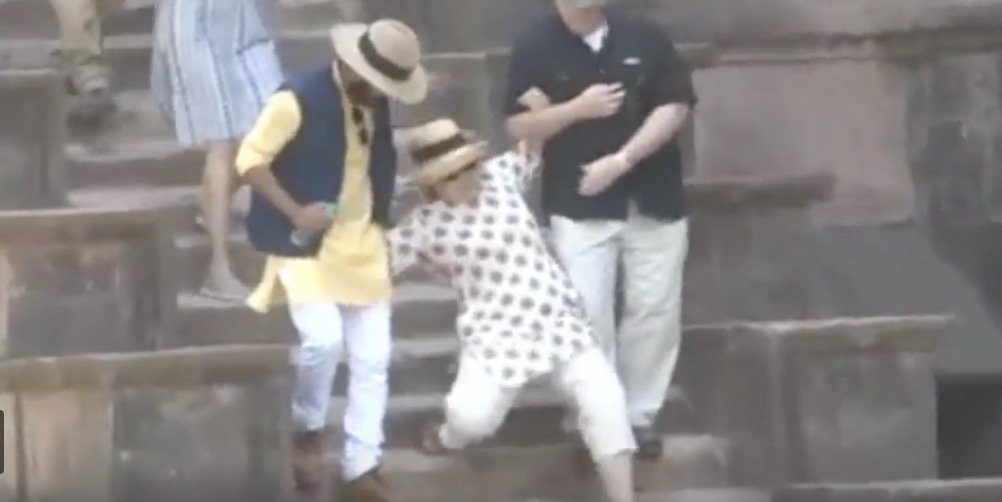 Is Hillary Clinton using 'falling' videos to Escape